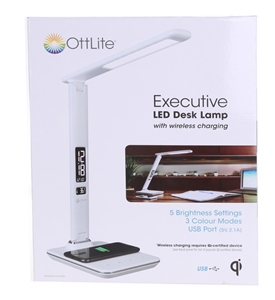 OTTLITE Executive LED Desk Lamp with Wir