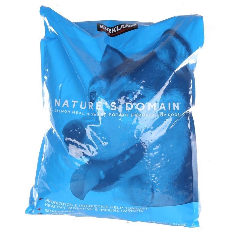 16kg x NATURES DOMAIN Adult Dog Food, Salmon Meal & Sweet Potato Formula. (