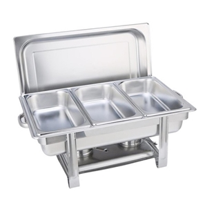 SOGA Triple Tray Stainless Steel Chafing