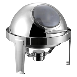 SOGA 6L Round Chafing Stainless Steel Fo