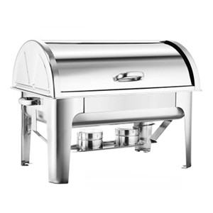 SOGA 3*3L Stainless Steel Roll Top Chafi