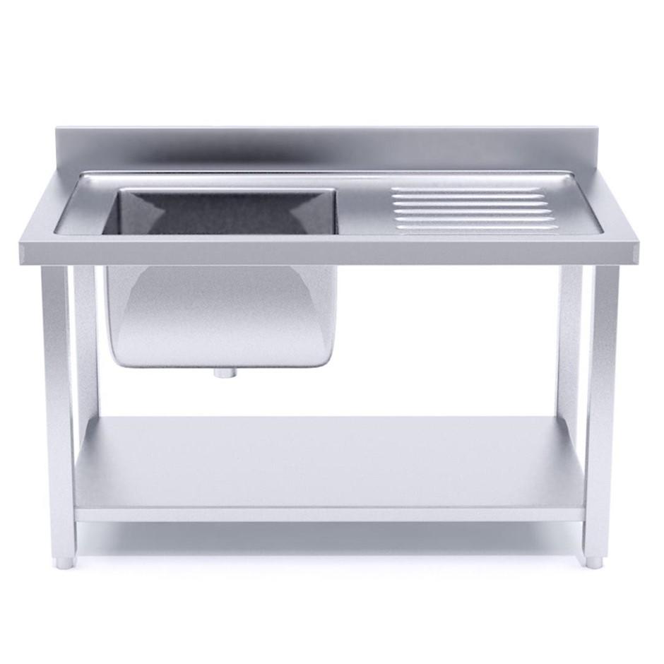 SOGA S/S Work Bench Sink Commercial Kitchen Food Prep 160*70*85cm