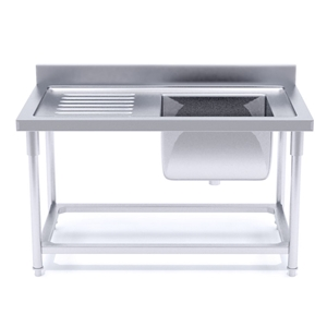 SOGA S/S Work Bench Right Sink Commercia