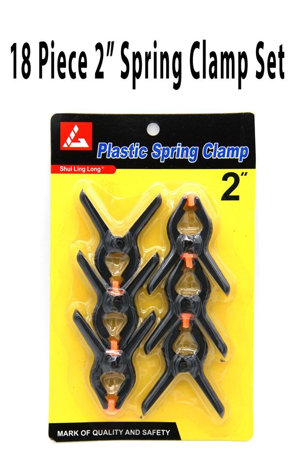 "18 Piece x 2"" Spring Clamp Set"