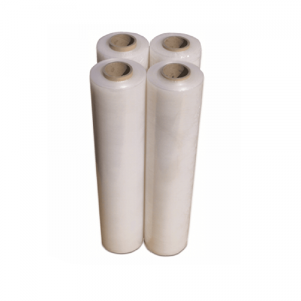 Qty 4 Stretch Wrap Film 20UM Pallet Shrink Cling Wrapping Roll 500mm x 4
