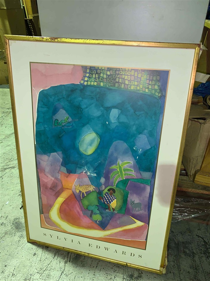 Printed Artwork in Gold Gild Frame