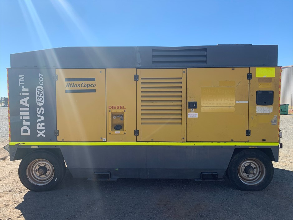 2011 Atlas Copco XRVS1350 CD7 Diesel Towable Air Compressor (Karratha)