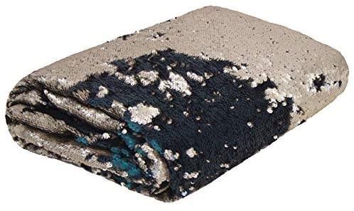 BAMBURY Shimmer Bed Runner, Atlantis/Antique. Front: 100% Polyester with Se