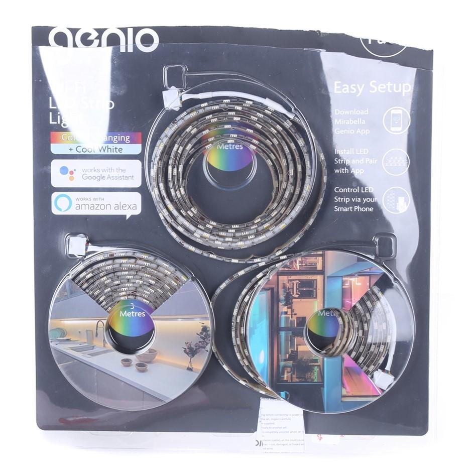 GENIO Wi-Fi LED Strip Light (Colour Changing + Cool White) N.B. Damaged Pac