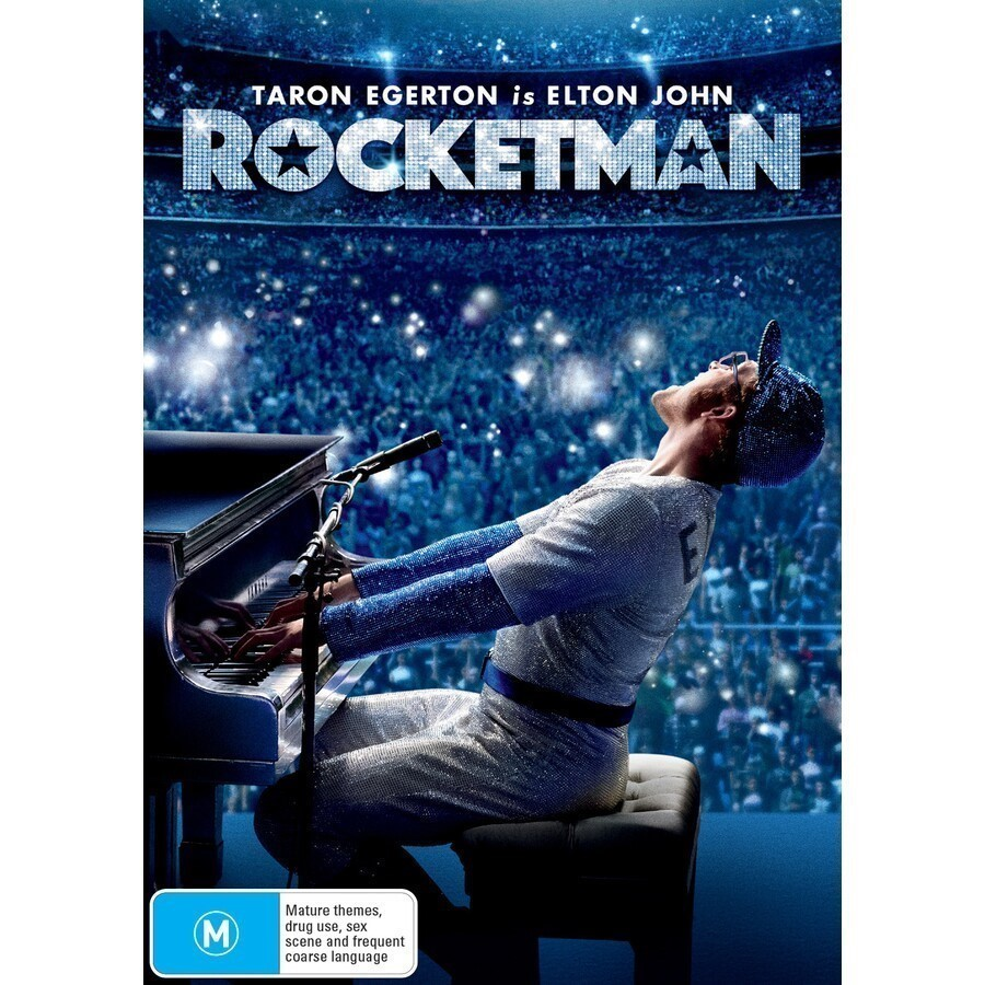 """ROCKETMAN`` DVD Featuring Actor Taron Egerton as Elton John. Buyers Note -"