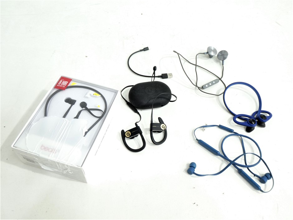 5x ASSORTED USED & UNTESTED WIRELESS HEADSETS