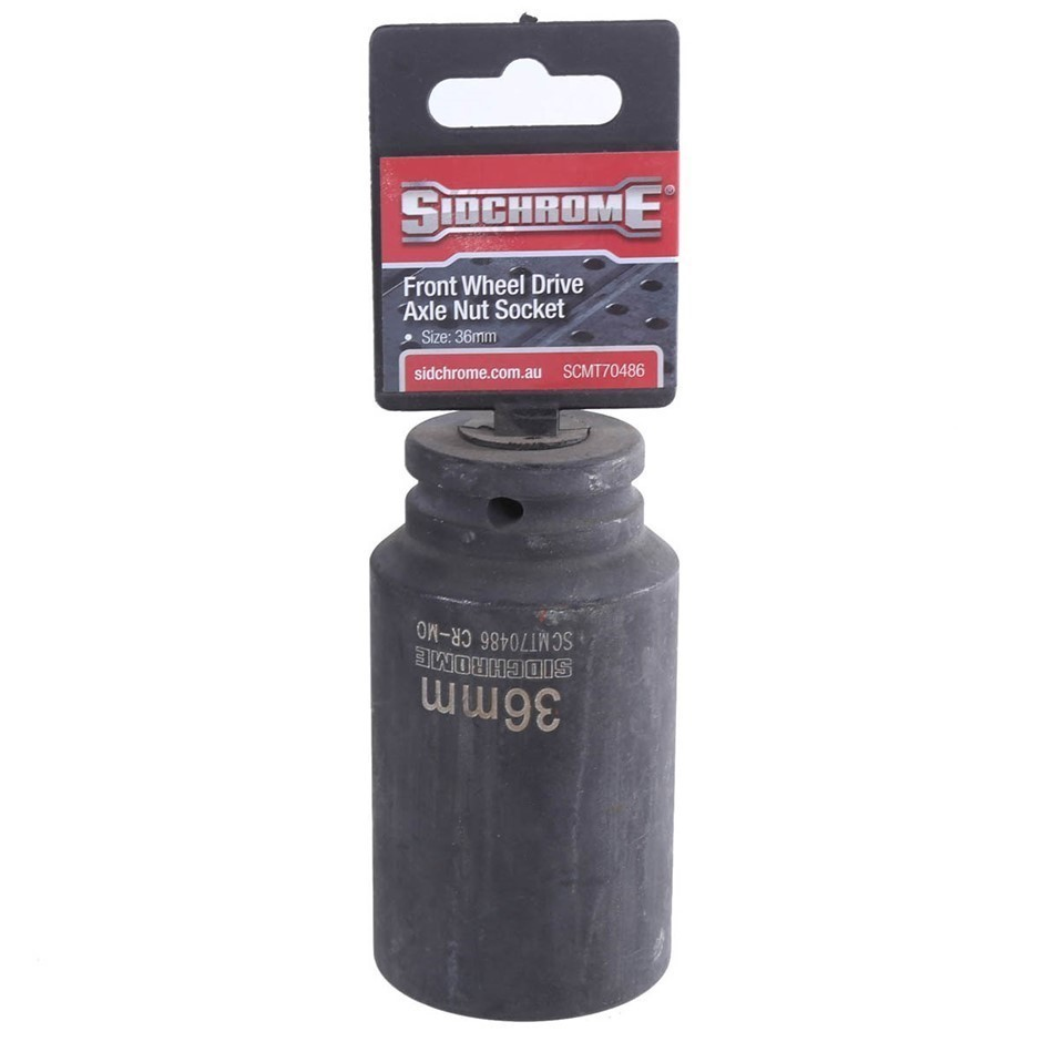 SIDCHROME Front Wheel Drive Axle Nut 36mm. Buyers Note - Discount Freight R