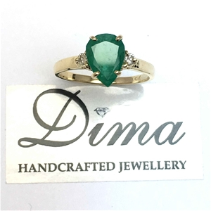 18ct Yellow Gold, 1.61ct Emerald and Dia