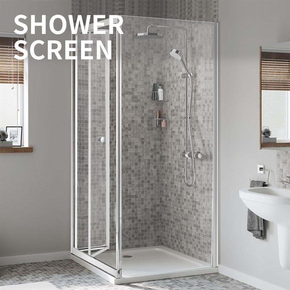 Levede Shower Screen Screens Door Seal Enclosure Glass Panel 760x760x1900mm