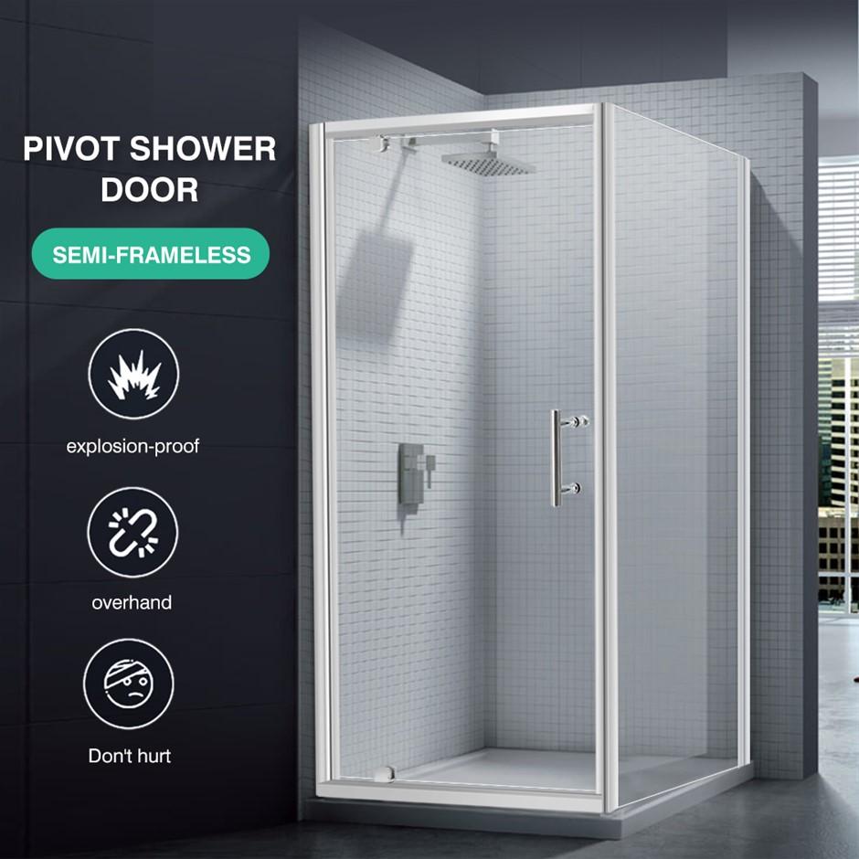 Levede Bath Shower Enclosure Screen Seal Strip Glass Door 760x760x1900mm