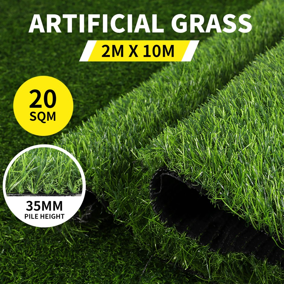 20SQM Artificial Grass Lawn Outdoor Synthetic 3-Grass Plant Lawn