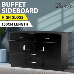 Levede Buffet Sideboard Cabinet Modern H