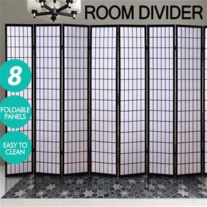 Levede 8 Panel Room Divider Screen Door