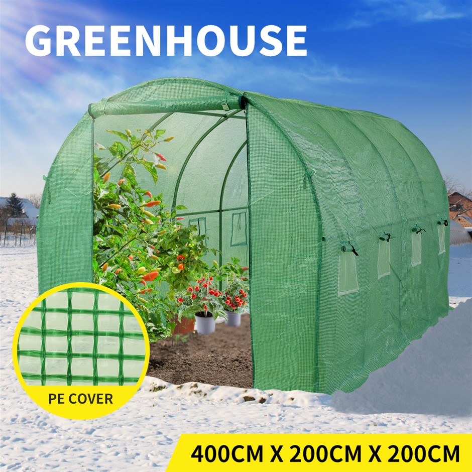 Levede Greenhouse Plastic Film Garden Shed Frame Plant Tunnel Cover