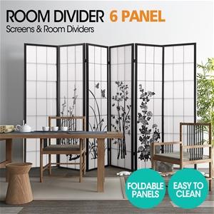 Levede 6 Panel Room Divider Screen Wood