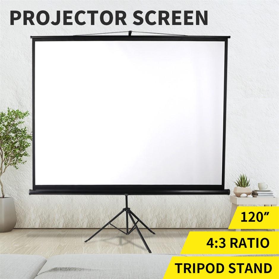 "120 "" Projector Screen Tripod Stand Outdoor Screens Cinema Portable HD3D"