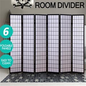 Levede 6 Panel Room Divider Screen Door