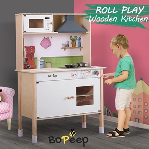 Bo Peep Kids Wooden Kitchen Pretend Play