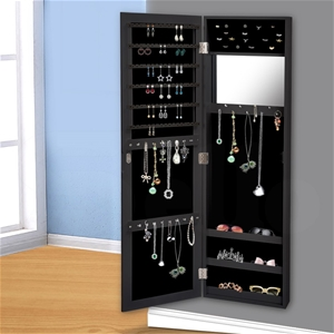 Levede Wall Mounted Mirrored Jewellery D