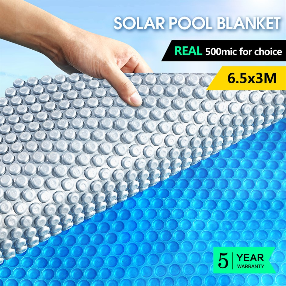 Swimming Pool Cover 500 Micron Solar Blanket Bubble Covers Heater 6.5x3m