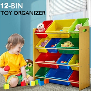Levede 12Bins Kids Toy Box Bookshelf Org