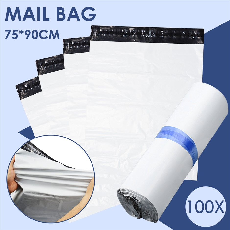 100x Poly Post Mailer Plastic Satchel Self Sealing Courier Mail Bags