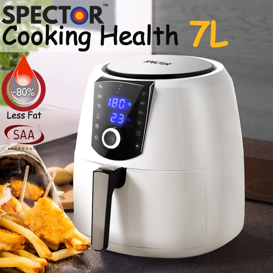 Spector 7L Air Fryer LCD Healthy Cooker Low Fat OilFree Kitchen Oven 1800W