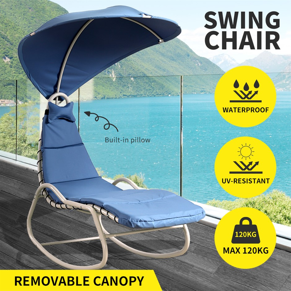 Outdoor Sun Lounge Swing Chair Lounger Canopy Bed Sofa Garden Patio