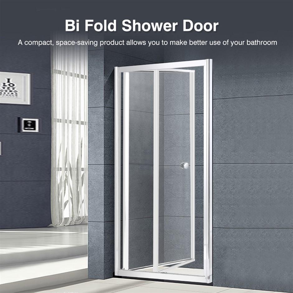 Levede Shower Screen Door Seal Enclosure Glass Panel Foldable 760x1900mm