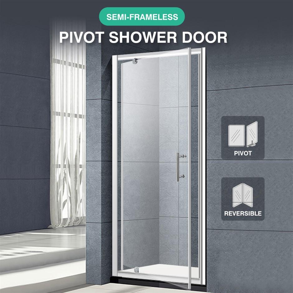 Levede Bath Shower Enclosure Screen Seal Strip Glass Shower Door 760x1900mm