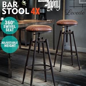 4x Levede Rustic Industrial Bar Stool Ki