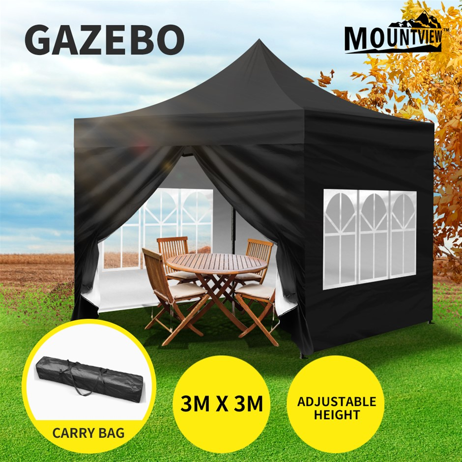 Mountview Gazebo 3x3m Pop Up Marquee Tent Outdoor Camping Canopy Party
