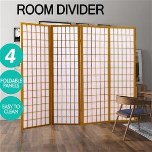 Levede 4 Panel Room Divider Screen Door