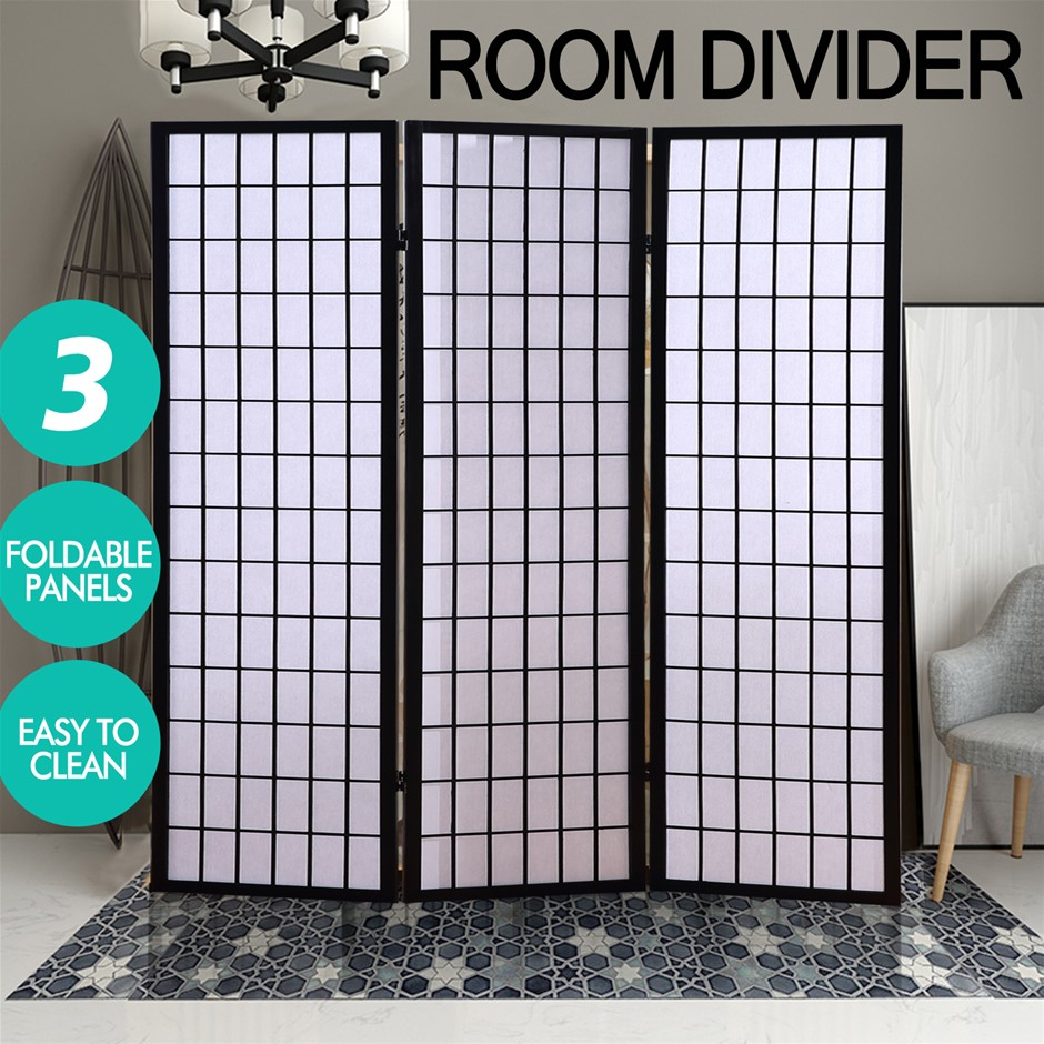 Levede Room Screen 3 Panel Folding Privacy Divider Tall Oriental Wood Home