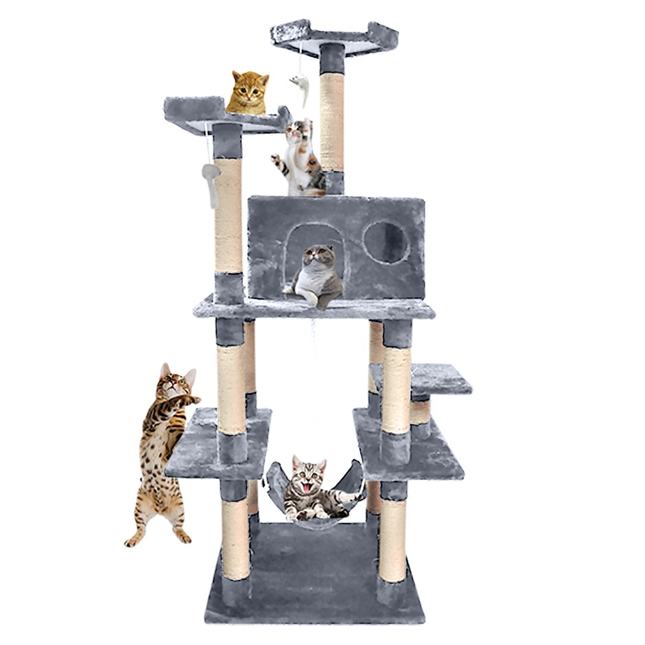 PaWz 1.83M Cat Scratching Post Tree Gym House Condo Furniture Scratcher