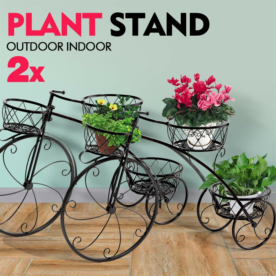 2x Plant Stand Outdoor Indoor Pot Garden Decor Flower Rack Wrought