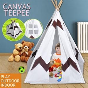 Kids Home Canvas Teepee Pretend Play Ten