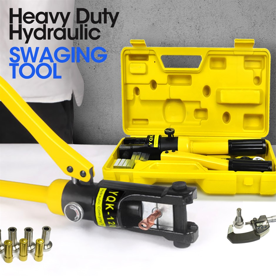 Heavy Duty Hydraulic Swaging Tool Kit for Stainless Wire Crimping
