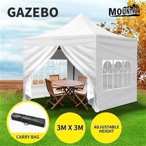 Mountview Gazebo 3x3 Pop Up Tent Folding