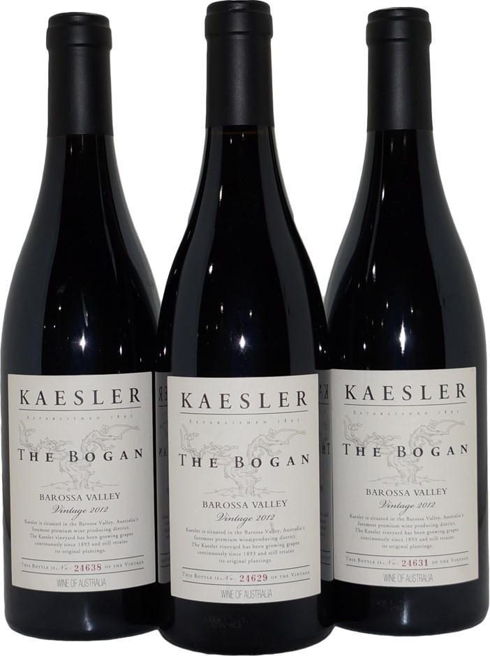 Kaesler The Bogan Shiraz 2012 (3x 750mL), Barossa Valley, SA, Cork.