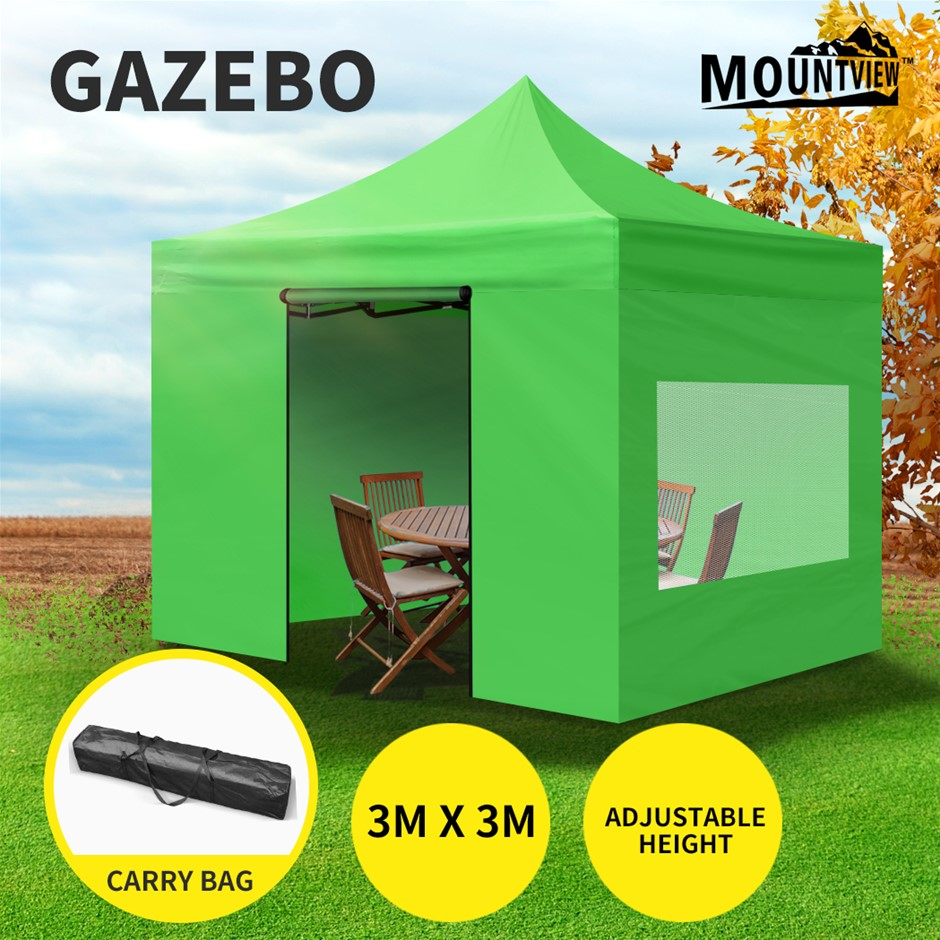 Mountview Gazebo Tent 3x3 Marquee Mesh Side Wall Outdoor Camping Canopy