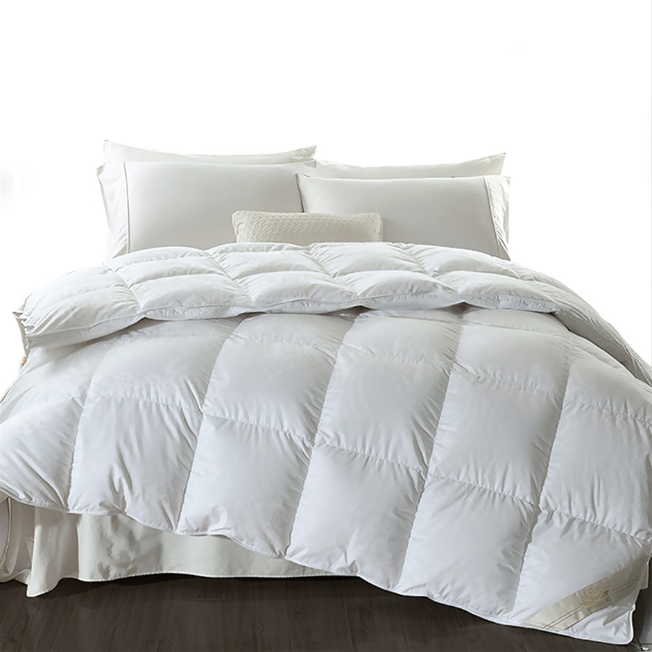 DreamZ 700GSM All Season Goose Down Feather Filling Duvet in King Single
