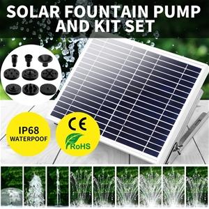 Solar Fountain Water Pump Kit Pond Pool