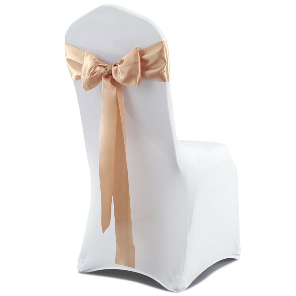 50x Satin Chair Sashes Cloth Cover Party Event Decoration Table Runner