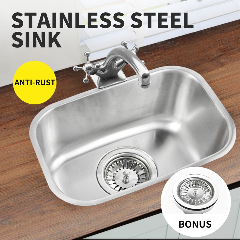 Kitchen Sink Stainless Steel Under/Topmount Handmade Laundry Single Bowl
